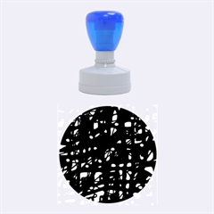 Blue and pink neon Rubber Round Stamps (Medium)