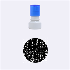 Blue and pink neon Rubber Round Stamps (Small)