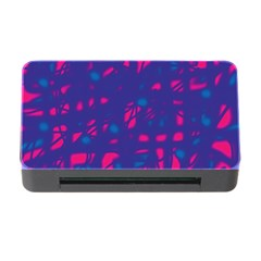 Blue and pink neon Memory Card Reader with CF