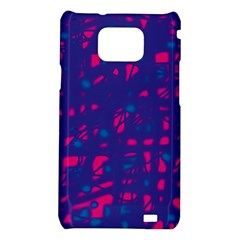 Blue and pink neon Samsung Galaxy S2 i9100 Hardshell Case