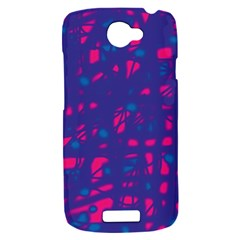 Blue and pink neon HTC One S Hardshell Case