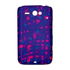 Blue and pink neon HTC ChaCha / HTC Status Hardshell Case