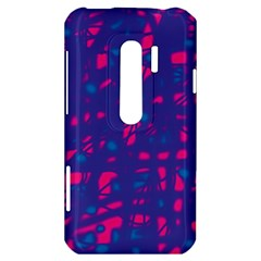 Blue and pink neon HTC Evo 3D Hardshell Case