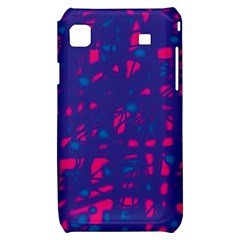 Blue and pink neon Samsung Galaxy S i9000 Hardshell Case