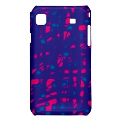 Blue and pink neon Samsung Galaxy S i9008 Hardshell Case