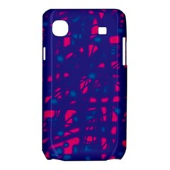 Blue and pink neon Samsung Galaxy SL i9003 Hardshell Case