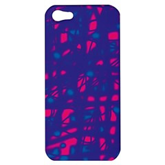Blue and pink neon Apple iPhone 5 Hardshell Case