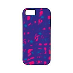 Blue and pink neon Apple iPhone 5 Classic Hardshell Case (PC+Silicone)