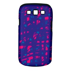 Blue and pink neon Samsung Galaxy S III Classic Hardshell Case (PC+Silicone)