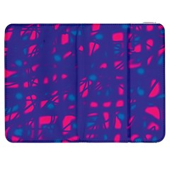 Blue and pink neon Samsung Galaxy Tab 7  P1000 Flip Case
