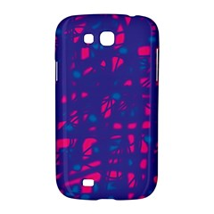 Blue and pink neon Samsung Galaxy Grand GT-I9128 Hardshell Case