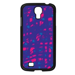Blue and pink neon Samsung Galaxy S4 I9500/ I9505 Case (Black)