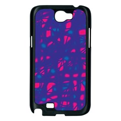 Blue and pink neon Samsung Galaxy Note 2 Case (Black)