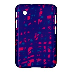 Blue and pink neon Samsung Galaxy Tab 2 (7 ) P3100 Hardshell Case