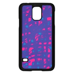 Blue and pink neon Samsung Galaxy S5 Case (Black)