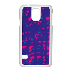 Blue and pink neon Samsung Galaxy S5 Case (White)