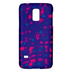 Blue and pink neon Galaxy S5 Mini