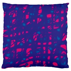 Blue and pink neon Large Flano Cushion Case (One Side)