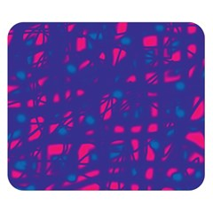 Blue and pink neon Double Sided Flano Blanket (Small)