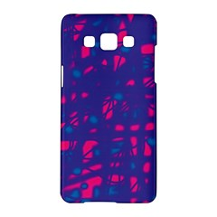Blue and pink neon Samsung Galaxy A5 Hardshell Case