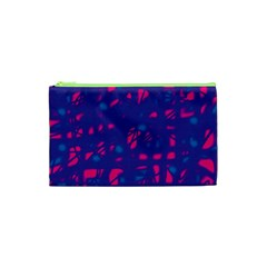 Blue and pink neon Cosmetic Bag (XS)
