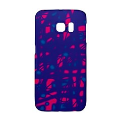Blue and pink neon Galaxy S6 Edge