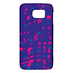 Blue and pink neon Galaxy S6