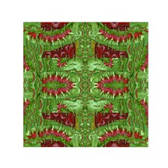 Bleeding Hearts Forest Small Satin Scarf (square)