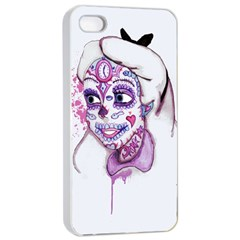 Alice Sugar Skull Apple iPhone 4/4s Seamless Case (White)