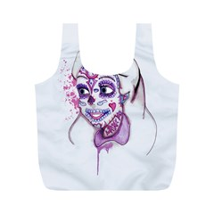 Alice Sugar Skull Full Print Recycle Bags (M)