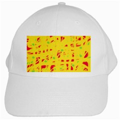 Yellow and red White Cap