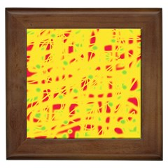 Yellow and red Framed Tiles