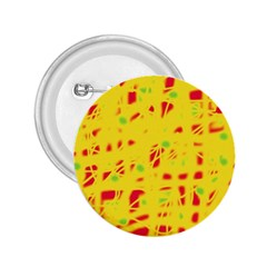 Yellow and red 2.25  Buttons