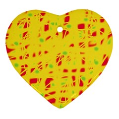 Yellow and red Ornament (Heart)