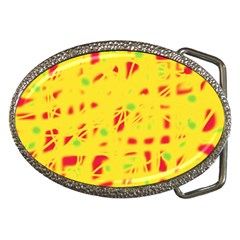 Yellow and red Belt Buckles