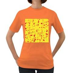 Yellow and red Women s Dark T-Shirt