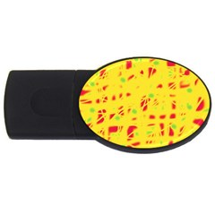 Yellow and red USB Flash Drive Oval (4 GB)