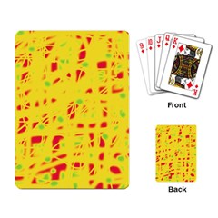 Yellow and red Playing Card