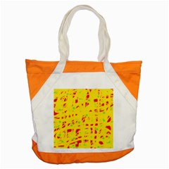 Yellow and red Accent Tote Bag