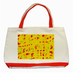 Yellow and red Classic Tote Bag (Red)