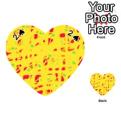 Yellow and red Playing Cards 54 (Heart)