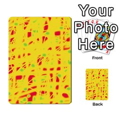 Yellow and red Multi-purpose Cards (Rectangle)