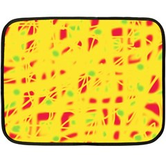Yellow and red Double Sided Fleece Blanket (Mini)