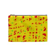 Yellow and red Cosmetic Bag (Medium)
