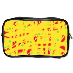 Yellow and red Toiletries Bags