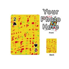 Yellow And Red Playing Cards 54 (mini)