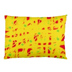 Yellow and red Pillow Case (Two Sides)