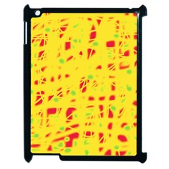 Yellow and red Apple iPad 2 Case (Black)