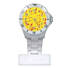 Yellow and red Plastic Nurses Watch