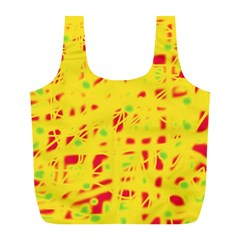 Yellow and red Full Print Recycle Bags (L)